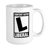Content Rated Liberal Large Mug
