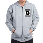 Content Rated Democrat Zip Hoodie