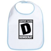 Content Rated Democrat Bib