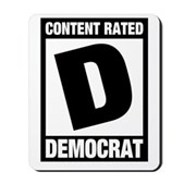 Content Rated Democrat Mousepad