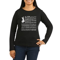 Women's Long Sleeve Dark Learn Finnish from Metal From Finland Shop
