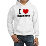 I Love Baudette Hooded Sweatshirt
