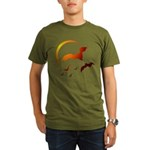 Flying Vampire Bats Organic Men's T-Shirt (dark)