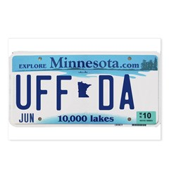 Uffda License Plate Shop Postcards (Package of 8)