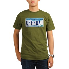 Uffda License Plate Shop Organic Men's T-Shirt (dark)