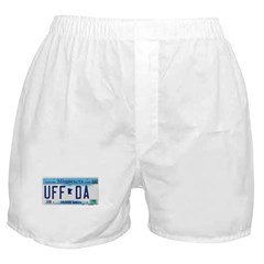 Uffda License Plate Shop Boxer Shorts