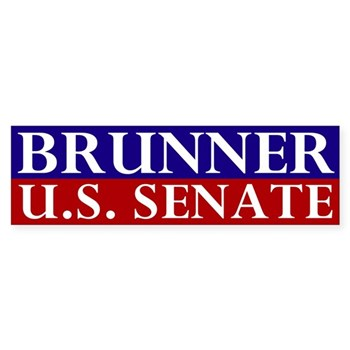 Jennifer Brunner for U.S. Senate (pro-Brunner Ohio Senatorial Bumper Sticker)