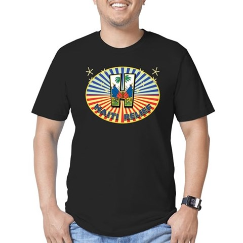 Haitian Starburst Men's Fitted T-Shirt (dark)