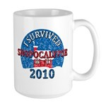 I Survived Snopocalypse Blizzard of 2010  Large Mug