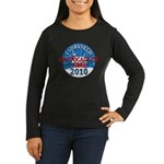 I Survived Snopocalypse Blizzard of 2010  Women's Long Sleeve Dark T-Shirt