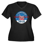I Survived Snomaggedon Blizzard of 2010 Women's Plus Size V-Neck Dark T-Shirt