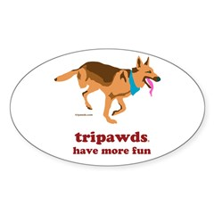 Hit the highway and show your three legged Tripawd dog pride with our gift shop stickers and merchandise.