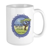 Linnaeus Quote Large Mug