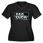 ProShow Logo Women's Plus Size V-Neck Dark T-Shirt