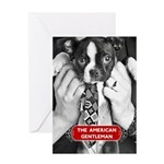 Boston Terrier American Gentleman Greeting Cards