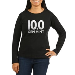 10.0 Gem Mint Women's Long Sleeve Dark T-Shirt