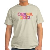Obama Flowers 2012 Light T-Shirt