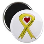"Yellow Ribbon Love Miss Soldier 2.25"" Magnet (10 p"