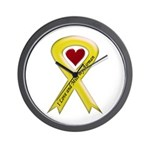 Yellow Ribbon Love Miss Airman Wall Clock