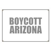 Boycott Arizona swag fresh from Leftique, the boutique for Democrats. www.leftique.com