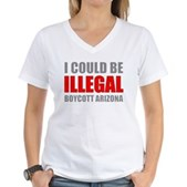 Could Be Illegal Anti-AZ Women's V-Neck T-Shirt