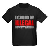 Could Be Illegal - Boycott AZ Kids Dark T-Shirt