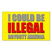 Could Be Illegal - Boycott AZ Sticker (Rectangle)