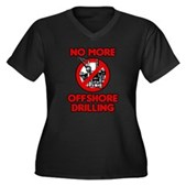 No More Offshore Drilling Women's Plus Size V-Neck