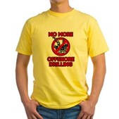 No More Offshore Drilling Yellow T-Shirt