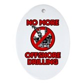 No More Offshore Drilling Ornament (Oval)