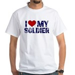 I heart love my Soldier Army White T-Shirt