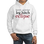 Tent Scene, Leg Hitch, Eclipse Hooded Sweatshirt