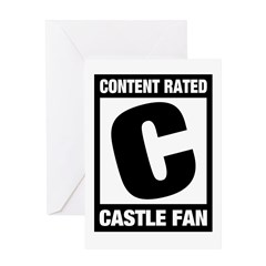 Content Rated C: Castle Fan Greeting Card