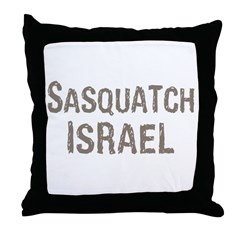 Sasquatch Israel!! Throw Pillow
