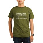 I'm Not Afraid Organic Men's T-Shirt (dark)