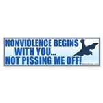 Nonviolence Begins with You... Sticker (Bumper 50 pk)