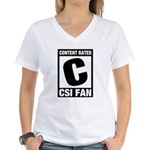 Content Rated C: CSI Fan Women's V-Neck T-Shirt