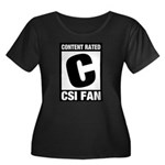 Content Rated C: CSI Fan Women's Plus Size Scoop Neck Dark T-Shirt
