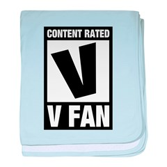 Content Rated V: V Fan baby blanket