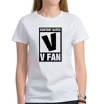 Content Rated V: V Fan Women's T-Shirt