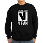 Content Rated V: V Fan Sweatshirt (dark)