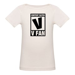 Content Rated V: V Fan Organic Baby T-Shirt