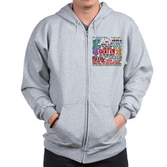 Dexter Quotes Collage Zip Hoodie