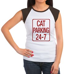 Cat Parking Women's Cap Sleeve T-Shirt