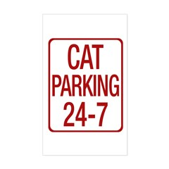 Cat Parking Sticker (Rectangle)