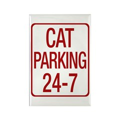 Cat Parking Rectangle Magnet