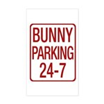 Bunny Parking Sticker (Rectangle)