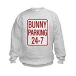 Bunny Parking Kids Sweatshirt