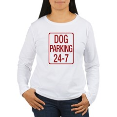 Dog Parking Women's Long Sleeve T-Shirt
