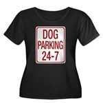 Dog Parking Women's Plus Size Scoop Neck Dark T-Shirt